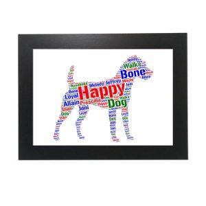 Jack Russell Terrier Dog of Word Art Prints