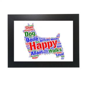 Silky Terrier Dog of Word Art Prints