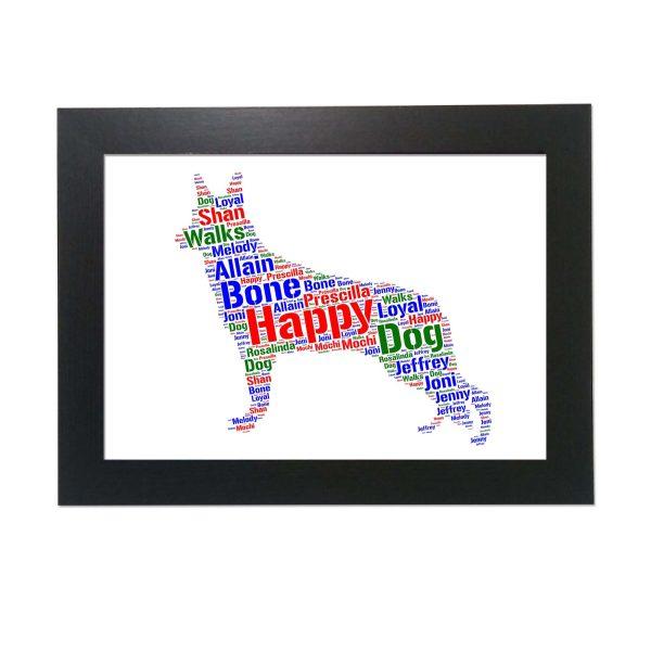 Swiss Shepherd Dog of Word Art Prints