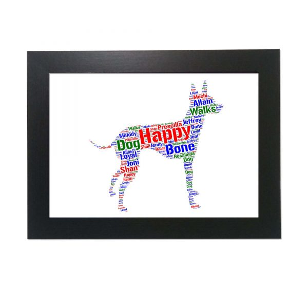 Toy Terrier Dog of Word Art Prints