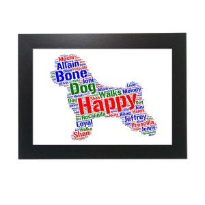 Bichon Frise Dog of Word Art Prints