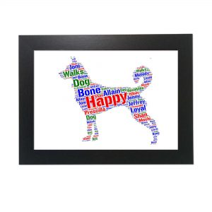 Canaan Dog White of Word Art Prints
