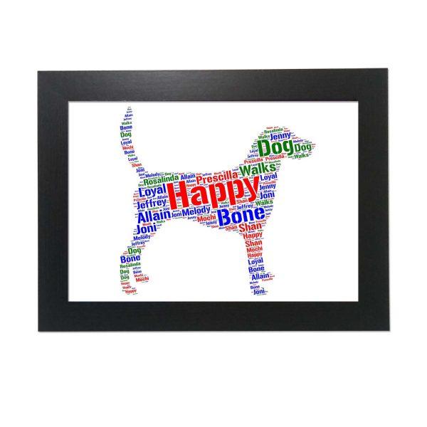 Harrier Dog of Word Art Prints