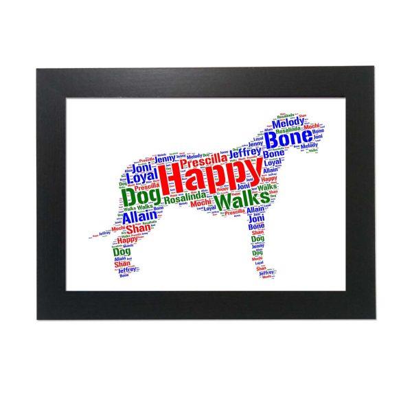 Irish Wolfhound of Word Art Prints