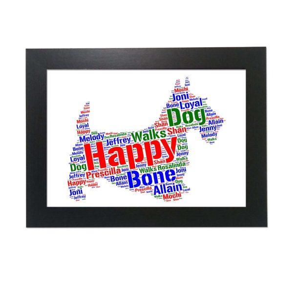 Scottish Terrier White of Word Art Prints