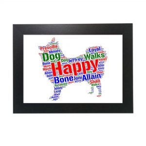 Japanese Spitz Dog of Word Art Prints