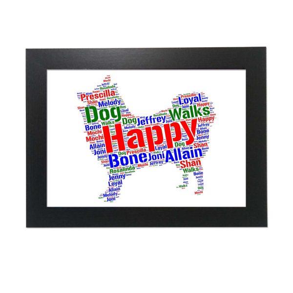 Japanese Spitz Dog of Word Art Prints