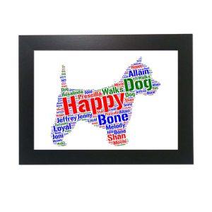 Westie White Dog of Word Art Prints