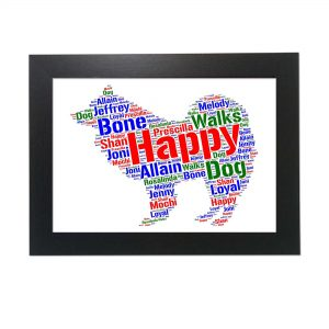 Samoyed Dog of Word Art Prints
