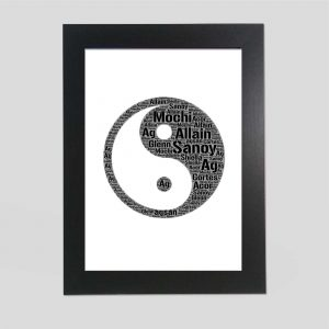 Yin Yang of Word Art Prints