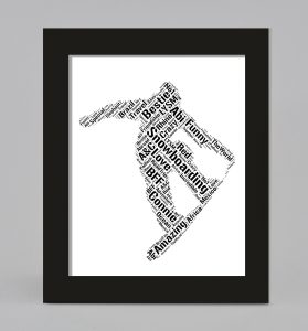 Man skating of word art prints