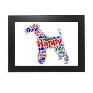 dog of word art prints