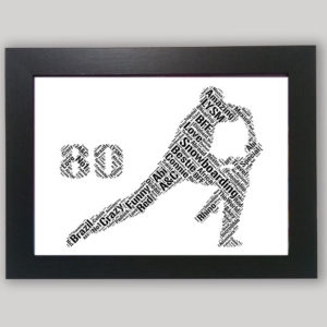 80th of word art prints