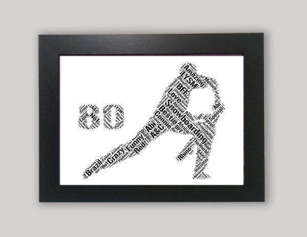 80th of word art prints