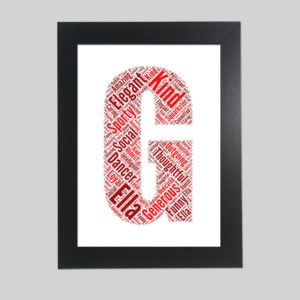 letter G of word art prints