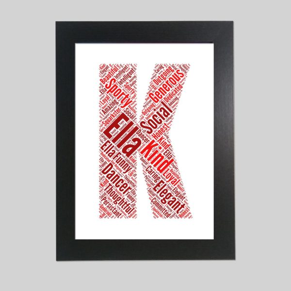 letter K of word art prints
