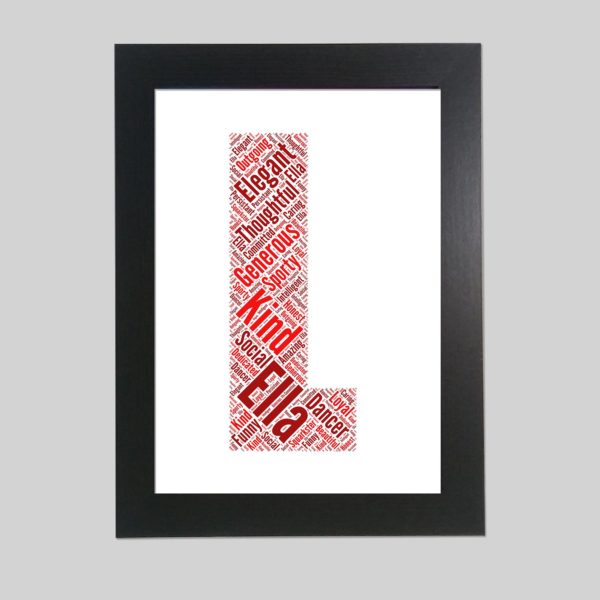 letter L of word art prints