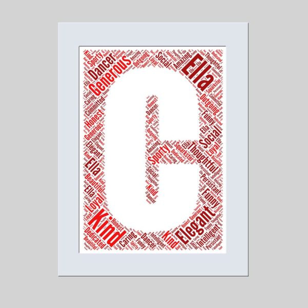 letter C of word art prints