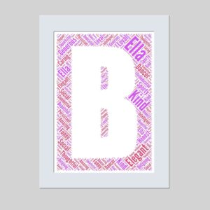 letter B of word art prints