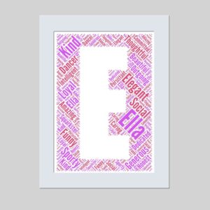 letter E of word art prints