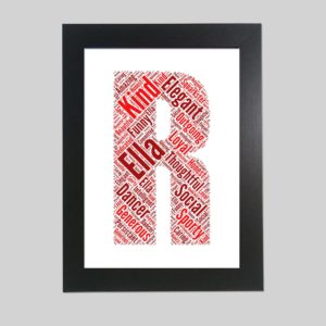 letter R of word art prints