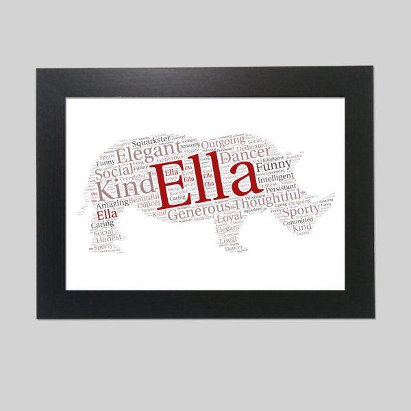 Rhinoceros of word art prints