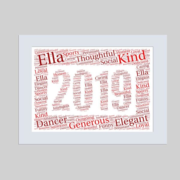 2019 of word art prints