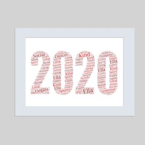 2020 of word art prints