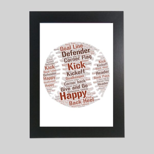 base ball of word art print