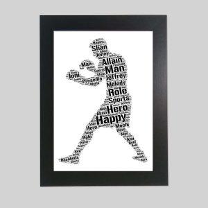 boxing of word art prints