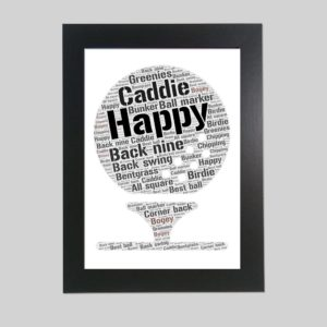 golf ball of word art prints
