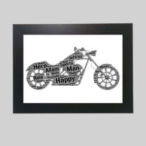 Harley Davidson of word art prints