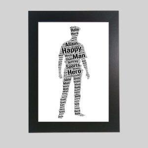 policeman of word art prints