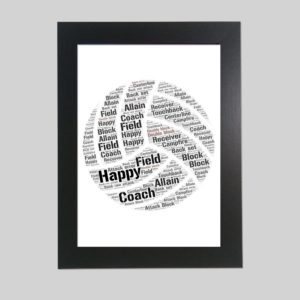 volley ball of word art prints