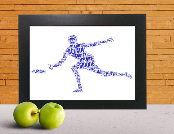 Frisbee in a Frame Wordart Prints