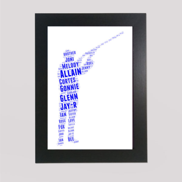 Shooting in a Frame Wordart Prints