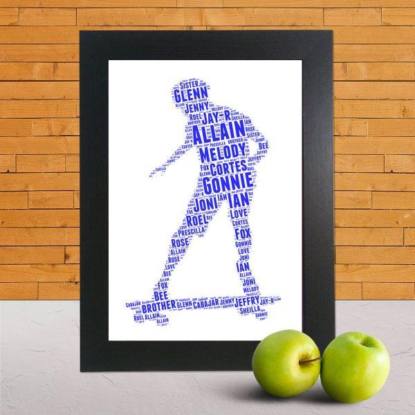 Skating in a Frame Wordart Prints