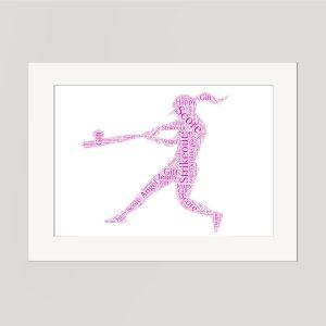 Baseball in a Frame Wordart Prints
