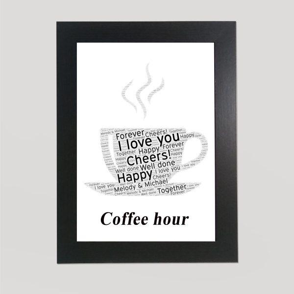 Coffee in a frame Wordart Print
