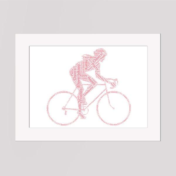 Cycling Wordart Prints