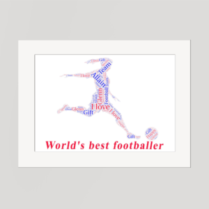 Soccer in a Frame Wordart Prints