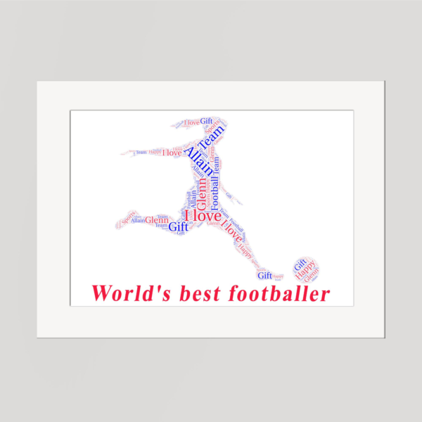 Soccer in a Frame Wordart Prints