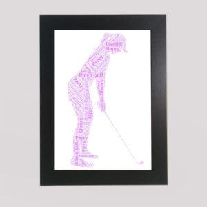 Golf in a Frame Wordart Prints