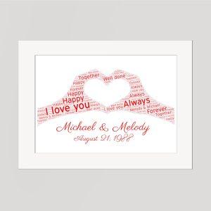 Heart Wordart Print
