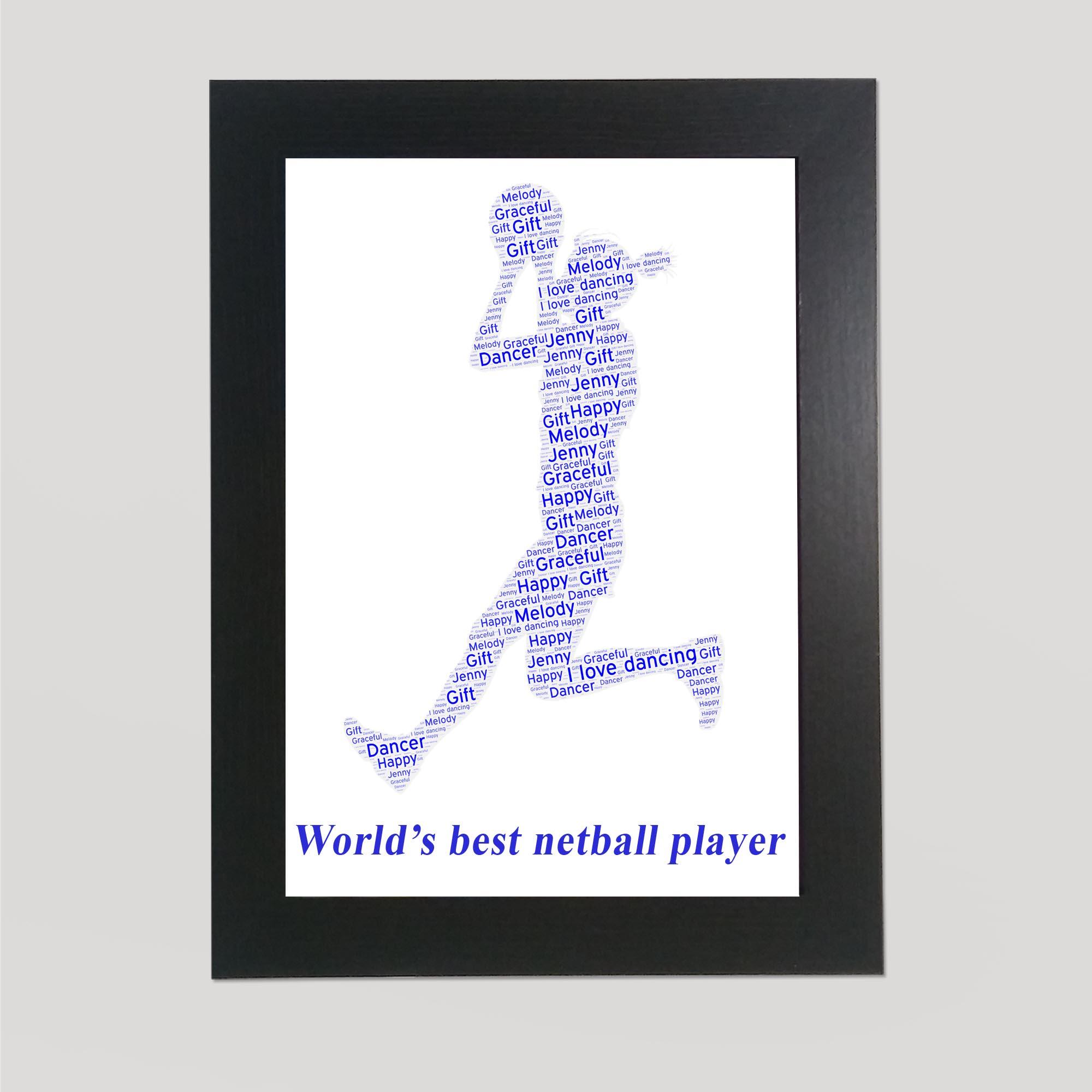 Basketball in a Frame Wordart Prints