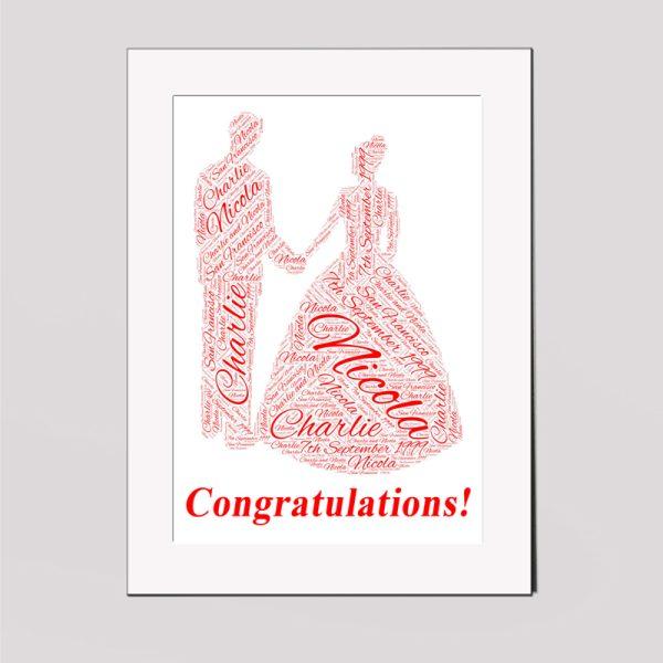 Wedding in a Frame Wordart Prints